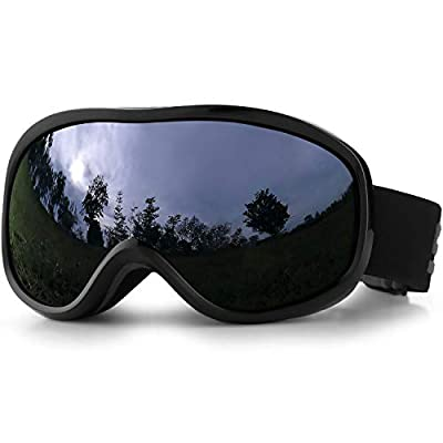 SPOSUNE OTG Ski Goggles - Over Glasses Snow Snowboard Goggle with Anti Fog Dual Lens for Men Women Youth Kids Skiing Skating Snowmobile, Windproof UV400 Protection Winter Sports Protective Glasses