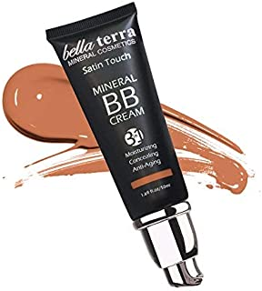 Bella Terra BB Cream 3-in-1 Tinted Moisturizer - Buildable Coverage - Light to Dark Skin Tones- with Natural SPF- Mineral Makeup Foundation- Hypoallergenic (1.69 Oz) (Dark Tan b 107)
