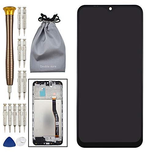Double Sure Pantalla LCD táctil digitalizador de cristal con marco de reemplazo para Samsung Galaxy M20 negro SM-M205F SM-M205F SM-M205FN SM-M205G SM-M205M