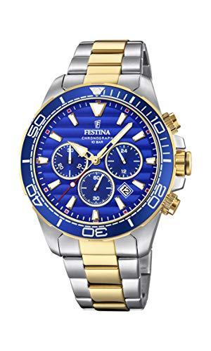 Festina Herren Chronograph Quarz Uhr mit Edelstahl Armband F20363/2