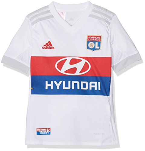 adidas Kinder Olympique Lyon Replica Home Trikot, Mehrfarbig (white/Collegiate red/Collegiate royal/Clear grey), 128 (7-8 Jahre)