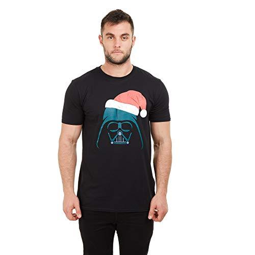 Star Wars Herren Vader Santa T-Shirt, Black, Small