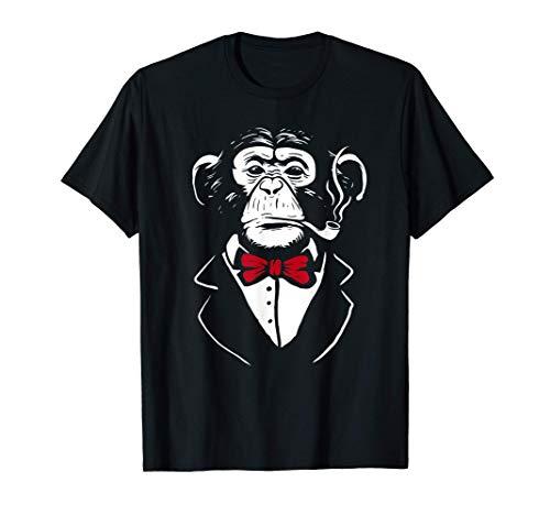 Lustiges Affen T-Shirt | Affen Kostüm | Schimpanse | Pfeife T-Shirt