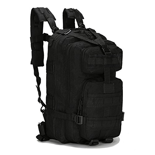 ECHI 3P mochila táctica, militar repelente de agua senderismo mochilas de camping para el senderismo al aire libre trekking camping caza (Negro)