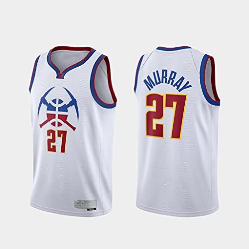 GLACX Ropa de Baloncesto de los Hombres Denver Nuggets 27# Murray New Bordado Fashion Fashionless Chaleco Camiseta Unisex,XL