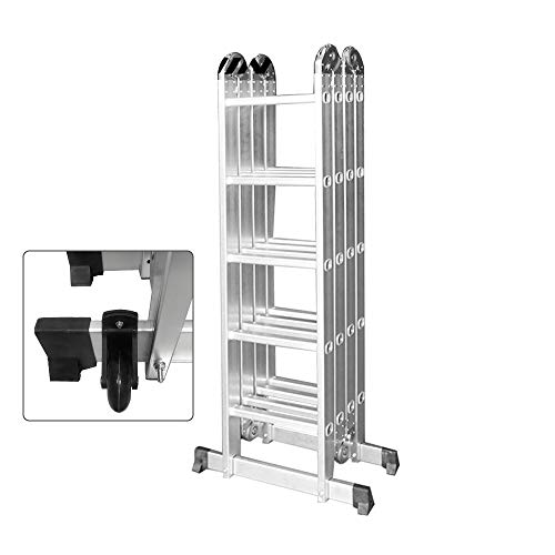 SAILUN 6 in 1 ladder, multifunctionele ladder, vouwladder, scharnierladder met platform 4X5 Stufen mit Plattform