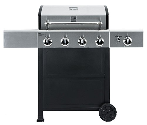 Kenmore  PG-40406SOL Outdoor Patio 4 Burner Gas BBQ Propane Grill With Side Burner in , Black/Stainless Steel a Grills Products Propane Service with