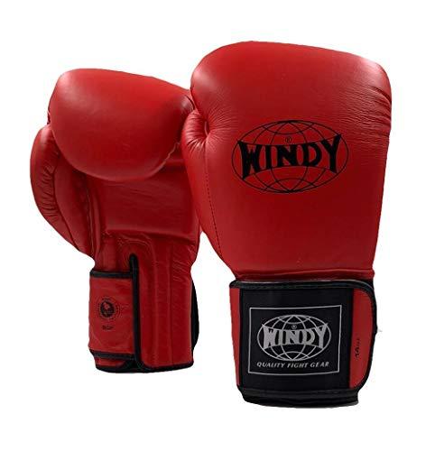 WINDY Proline Leder-Boxhandschuhe, Rot, Muay Thai, Sparring-Handschuhe, 340 g, 400 g, 450 g, Sport & Outdoor, 396,9 g (14 oz)