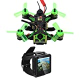 BGNing Mantis 85 Mini Drone with Boscam FPV Watch, Micro FPV Racing Drone Quadcopter with Frsky/Flysky Receiver F4 Flight Controller TFT Monitor BNF Version (Frsky Receiver)