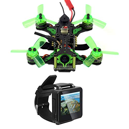 FEICHAO Mantis 85 Micro FPV Racing Drohne Quadcopter mit Frsky / Flysky-Empfänger F4 Flight Controller mit FPV Watch TFT Monitor BNF-Version (with Flysky Receiver)