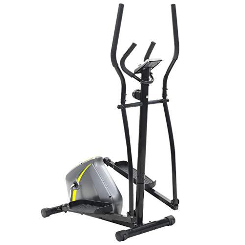 Festnight Crosstrainer | Fitness Heimtrainer Ergometer | Stepper Ellipsentrainer | LCD Display | 8 Widerstandsstufen 10 kg Drehmasse für bis zu 100 kg