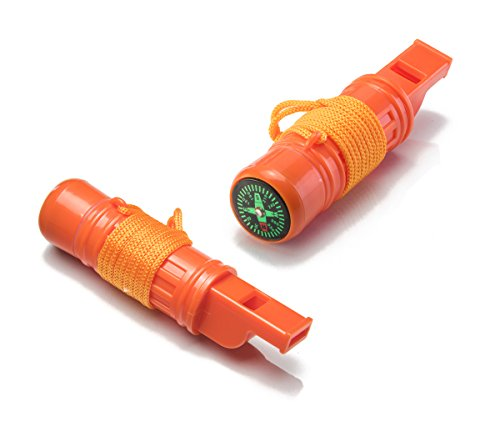 SE 5-in-1 Survival Whistles (2-Pack) - CCH5-1-2