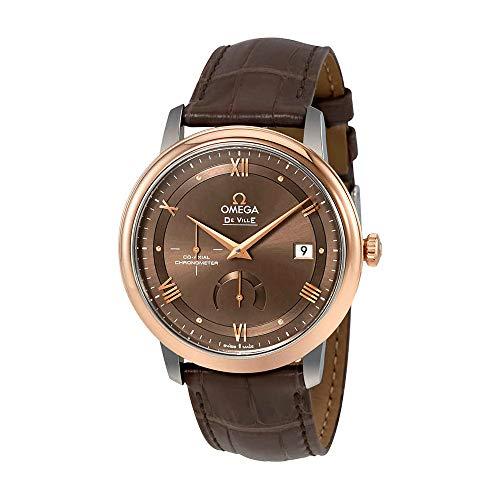 Omega De Ville 424.23.40.21.13.001 - Reloj automático para hombre con esfera de castaño