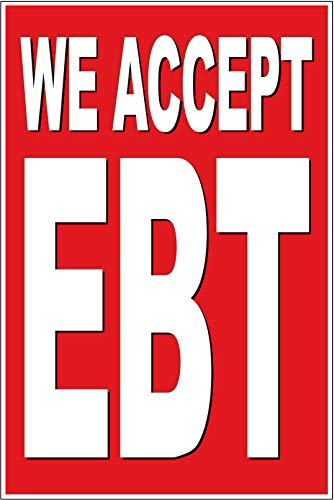 4 Less CO 24x36 WE Accept EBT Poster Retail Business Store Window POP Sign rb