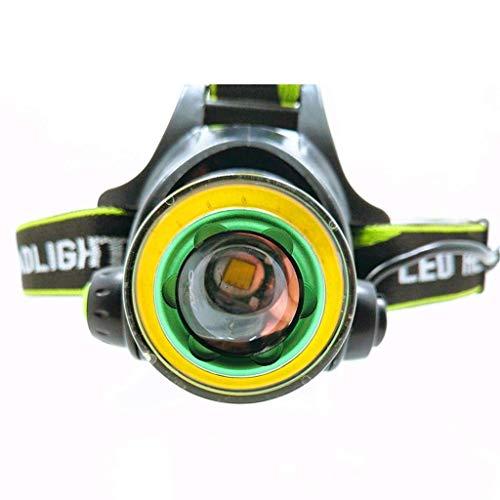 QGL-HQ Lampe Frontale, Tour LED Nuit Glare Long Shot étanche Spotlight Batterie au Lithium Mode de Charge Lampe Frontale