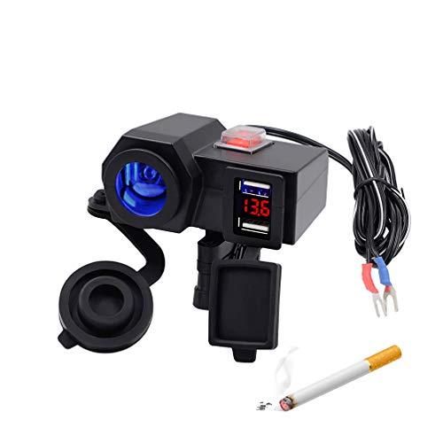 XMAGG® Encendedor Motos 12v Conector Toma de corriente mechero Encendedor USB para moto