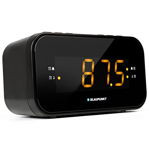 Blaupunkt Audio CLR 120 Radiowecker mit UKW PLL Radio, Uhrenradio zum Reisen, Zwei Weckzeiten, große Anzeige und Zahlen, Snooze-Funktion und Sleeptimer, dimmbares Display und Digitale Uhr, schwarz