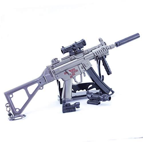 LINLUO 1/4 de Metal Arma MP5K Subametralladora Keybuckle Juguetes de los Niños Modelo de Regalo Mochila Colgante de Suministros de Fiesta