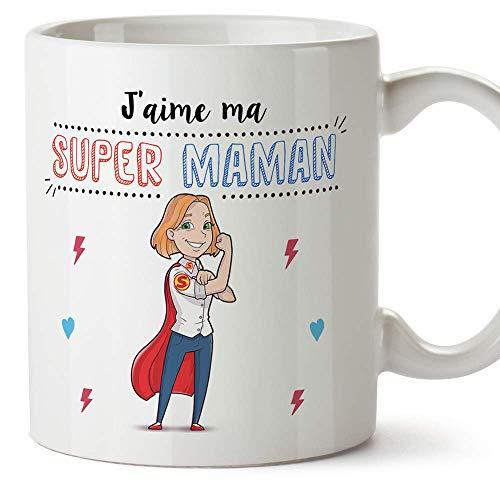 MUGFFINS Maman Mug/Tasse - Super Maman – Tasse Originale mère/Cadeau anniversaire fête des mères