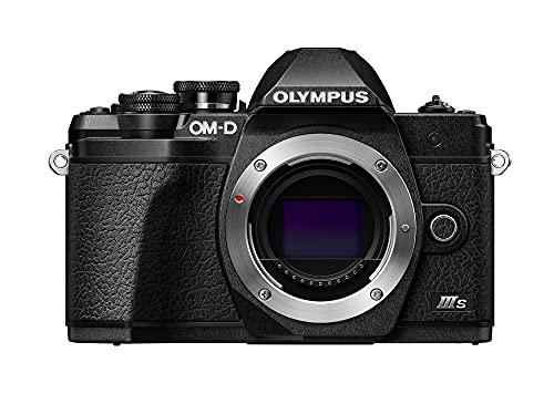 Appareil Photo Olympus Om-D E-M10 MarkIIIS, capteur 16MP, stabilisateur d'image sur 5Axes, écran LCD inclinable Haute définition, 4K, Wi-FI, viseur électronique, Noir