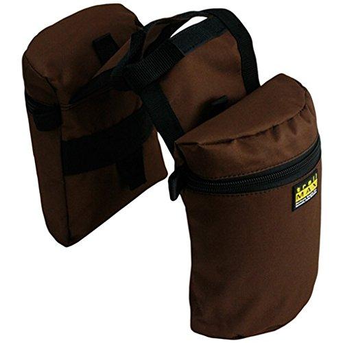 Trailmax Junior Doppel Horntasche Satteltasche Western Packtasche braun