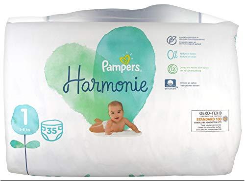 Pampers Harmonie Windeln Größe 25 kg Hypoallergen Stücke, Mehrfarbig, 35 stück