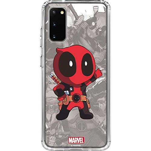Skinit Clear Phone Case for Galaxy S20 - Officially Licensed Marvel/Disney Deadpool Hello Design
