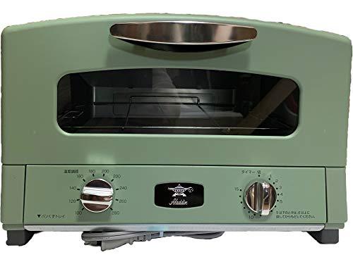 アラジン グラファイトグリル・トースター 4枚焼 グリーン グリルパン(平、波) グルネット付