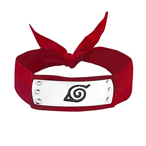 LACKINGONE Naruto Cosplay Stirnband Ninja Konoha Haarreif (Rot)