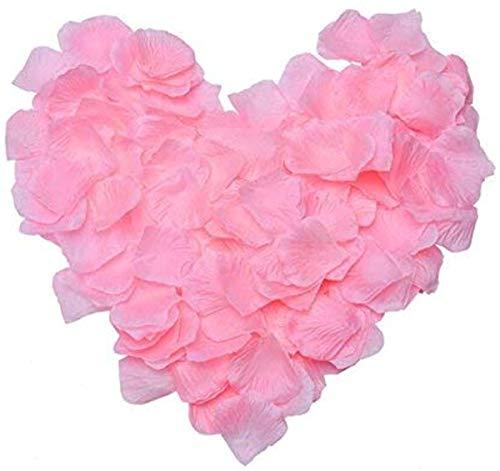 ZARRS Pétales de Rose,3000 Pack Pétales de Soie Artificielle Pétales pour Mariage Saint Valentin Romantique Art Décoration Confettis Rose