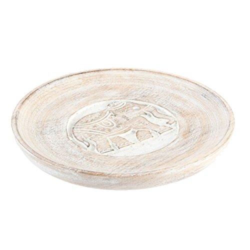 Dcasa - Bandeja vaciabolsillos madera tallada 20 cm