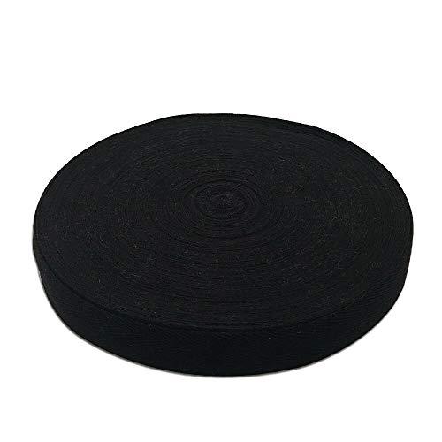 Baumwoll Schrägband 25mm 50m Einfassband Baumwolle Nahtband Natur Baumwollschrägband mit Fischgrätenstich für Wimpelkette Schneidern Schürze Craft Nähen