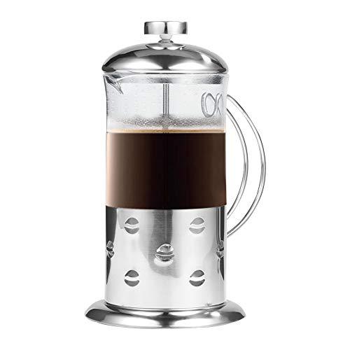 Tonysa French Press Koffiekop, roestvrij staal, voor het bereiden van verse koffie, thee, espresso enz. met transparant gehard glas, 800 ml.