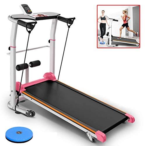 Cintas de correr Ejercicio máquina máquinas de interior mini máquina de caminar en silencio plegable multi-función de pérdida de peso deportes, teniendo 150KG (Color: Negro, tamaño: 100 * 50 * 90 cm)