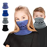 Multifunktionstuch Kinder, 4 Stück Schlauchschal Kinder Mundschutz Bandana Halstuch Kopftuch Loop Schal Outdoor Sport für Jungen Mädchen