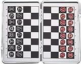 Juego de ajedrez portátil Juegos de ajedrez aluminio aleación de ajedrez de aleación magnética juego de ajedrez conjunto creativo plegable juego juego adulto niños educación educativo regalo portátil