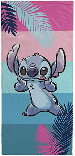 Jay Franco Disney Lilo and Stitch Kids Bath/Pool/Beach Towel - Super Soft & Absorbent Fade Resistant Cotton Towel, Measures 28 x 58 inches (Official Disney Product)