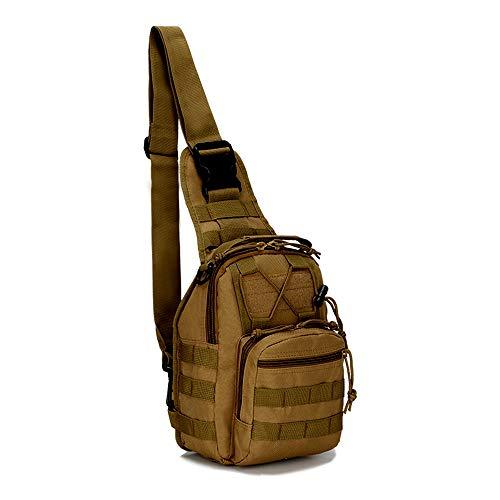 Samxu Metalldetektor Sling Rucksack, tragbar, multifunktional, Schultertasche, Brusttasche, Crossbody-Tasche für Outdoor-Jagd, Garrett, Minelab Finds Zubehör (Khaki)
