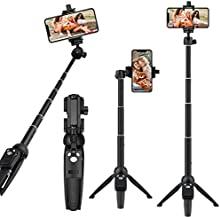 Selfie Stick Tripod, Eocean 40-inch Extendable Selfie Stick Tripod Stand with Wireless Remote for iPhone 11/11pro/Xs/Xr/Xs Max/8 7 6 Plus/Android Samsung Galaxy Note 9/S9/Huawei/Google