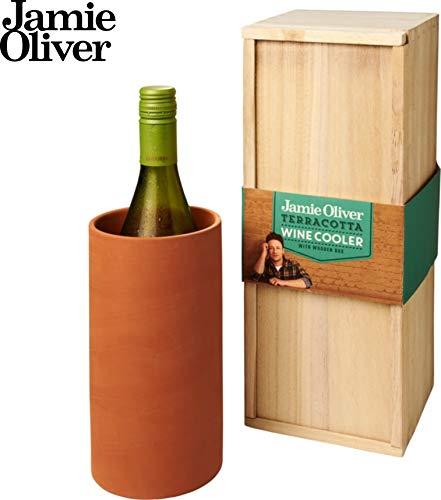 Schmalz Jamie Oliver® Terracotta Weinkühler in Einer Paulownia-Holz-Geschenkschachtel (ohne Gravur)