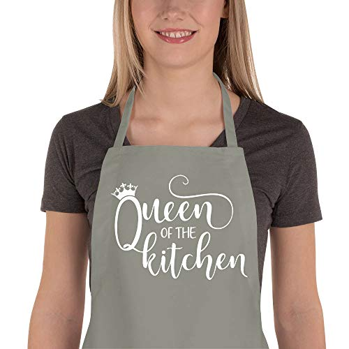 Funny Apron for Women, Cute Kitchen Chef Aprons with 2 Pockets for Cooking Baking - Fun Birthday, Valentines Day, Mother's Day Apron Gifts for Mom Wife Girlfriend Aunt Grandma