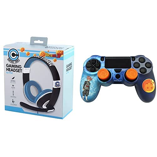 Fr-Tec Dragon Ball Auriculares Stereo Headset + FR·TEC - Dragon Ball Super Combo Pack, para mando Dualshock de PlayStation 4