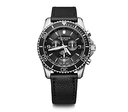Victorinox Herren Maverick Chronograph - Swiss Made Analog Quarz Edelstahl Uhr 241864