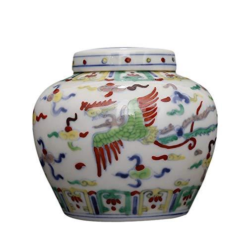 Cxp boetieks stijl keramische opslag pot theepot met de hand geschilderd blauw en wit bloemen Shuangfeng Peiyun patroon antieke blik Elegant