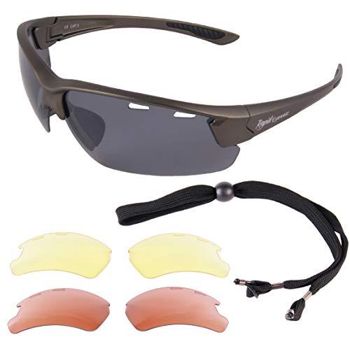 Rapid Eyewear Lunettes DE Soleil Pilot 'Cumolon'. Verres interchangeables. pour Hommes et Femmes. Se Conformer aux recommandations des autorités de l'
