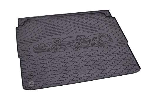Passgenau Kofferraumwanne geeignet für Peugeot 3008 ab 2016 ideal angepasst schwarz Kofferraummatte + Gurtschoner
