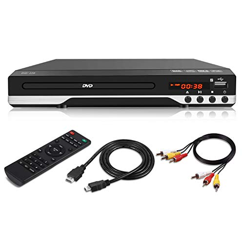 Compact DVD Player for TV - Multi Region HDMI 1080P Digital DVD Player with Remote Control, USB Port for TV Connection