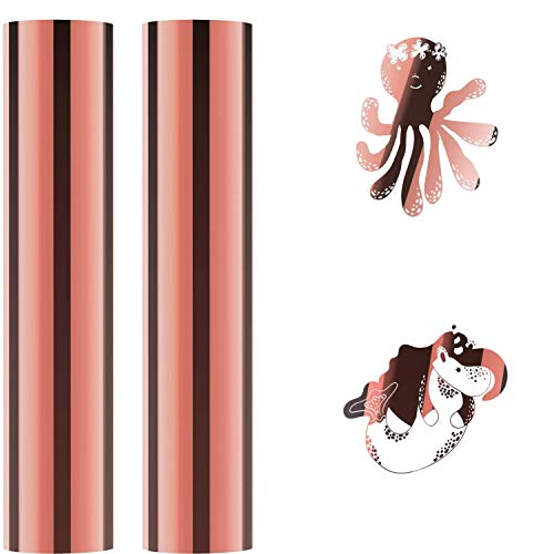 GLCS GLAUCUS 30 × 100cm Rollo de Vinilo Autoadhesivas Transferencia para Manualidades Silhouette Cameo Cricut - Oro Rosa