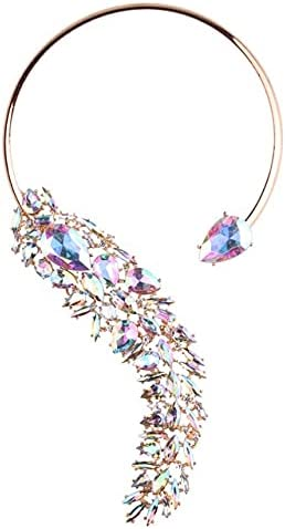 New Luxury Crystal Beads Cuff Collar Choker Necklace for Women Multicolored Bohemian Wedding Maxi Statement Jewelry