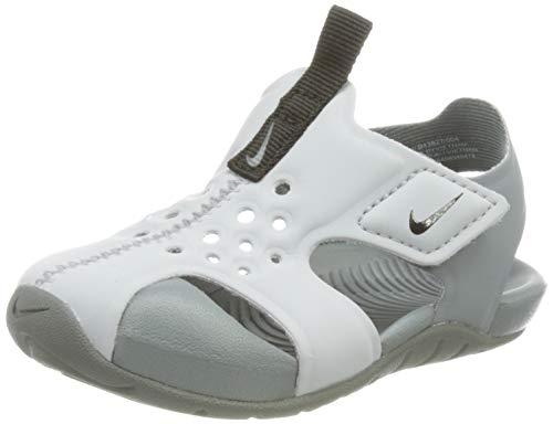 Nike Sunray Protect 2 (TD), Slide Sandal Unisex niños, Wolf Grey/Black-Cool Grey, 19.5 EU